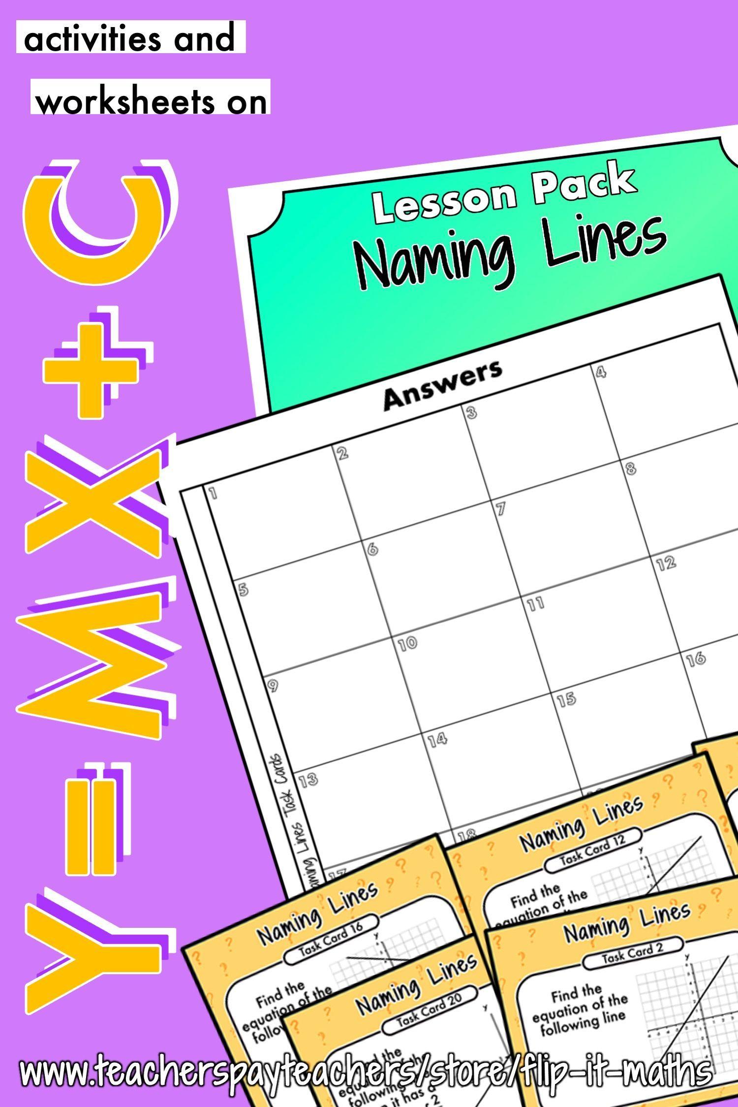 Naming Lines Using Y Mx C In