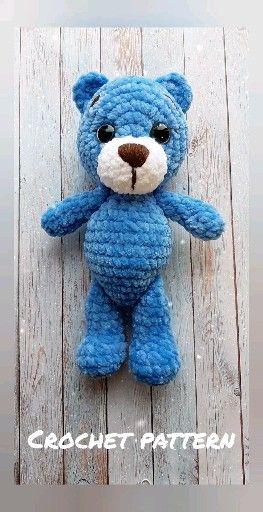 Photo of CROCHET PATTERN bear toy – Amigurumi pattern teddy bear – crocheted toy Pattern in English – Crochet
