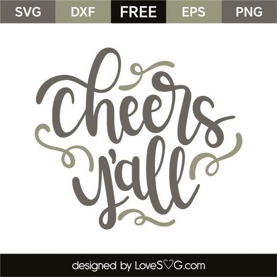 Download Cheers y'all | Cricut, Free stencils, Cricut monogram