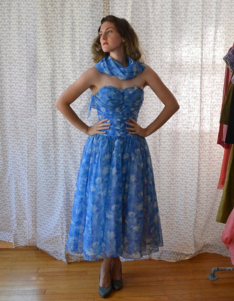 Moment in time dress vintage us evening gown fred perlberg in