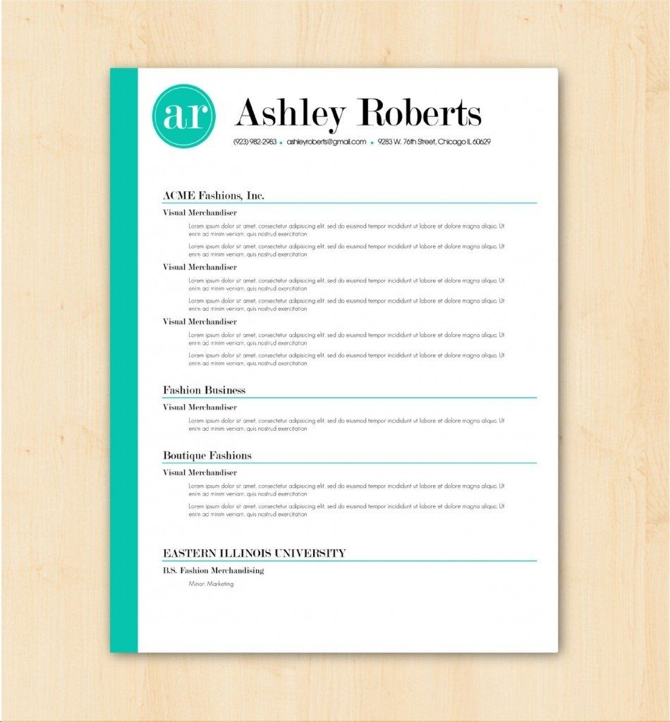 Free Resume Templates That Stand Out Simple resume
