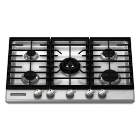 Kitchenaid Architect Ii 5 Burner Gas Cooktop Stainless Common 30 In Actual 30 1875 In Gas Cooktop Kitchen Aid Cooktop