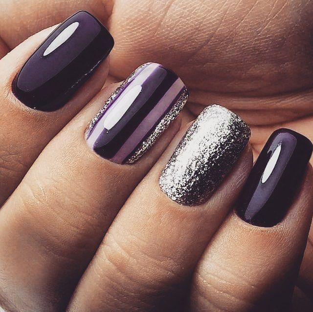 80 Dark Color Nail Designs For Women Purple Nails Dark Color Nails Trendy Nails