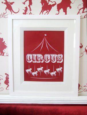 Nursery circus print