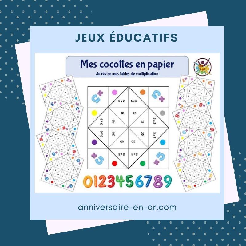Jeux éducatifs pour enfants à imprimer