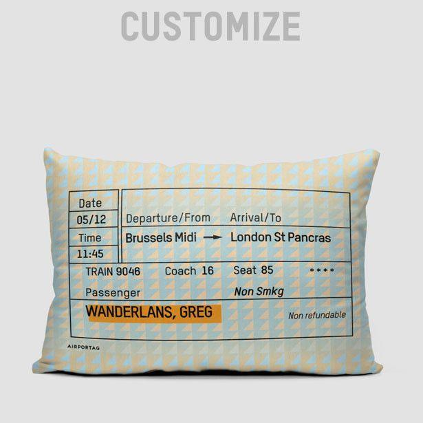 Train Ticket Toss 12x22 | Pillows