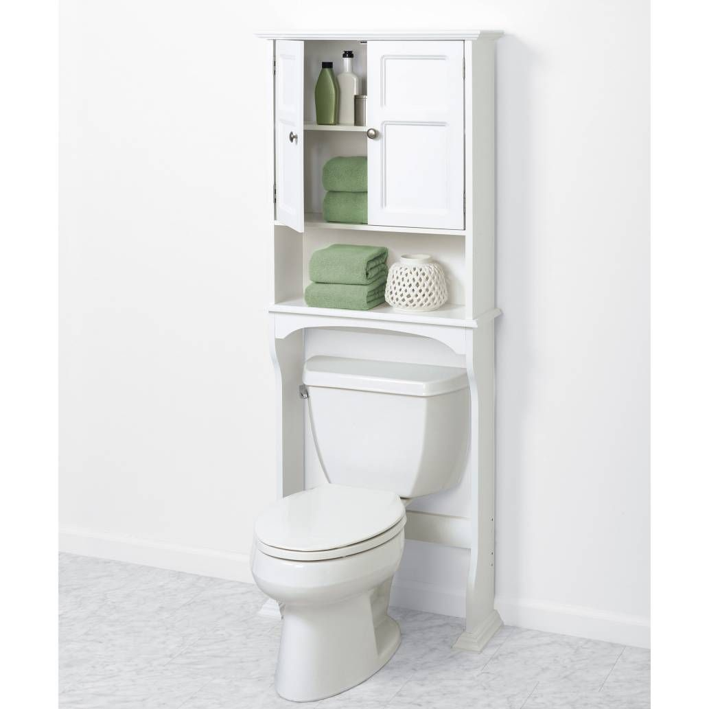 Product Image For Zenna Home™ Collette Wooden Bathroom Space Saver In White  3 Out Of