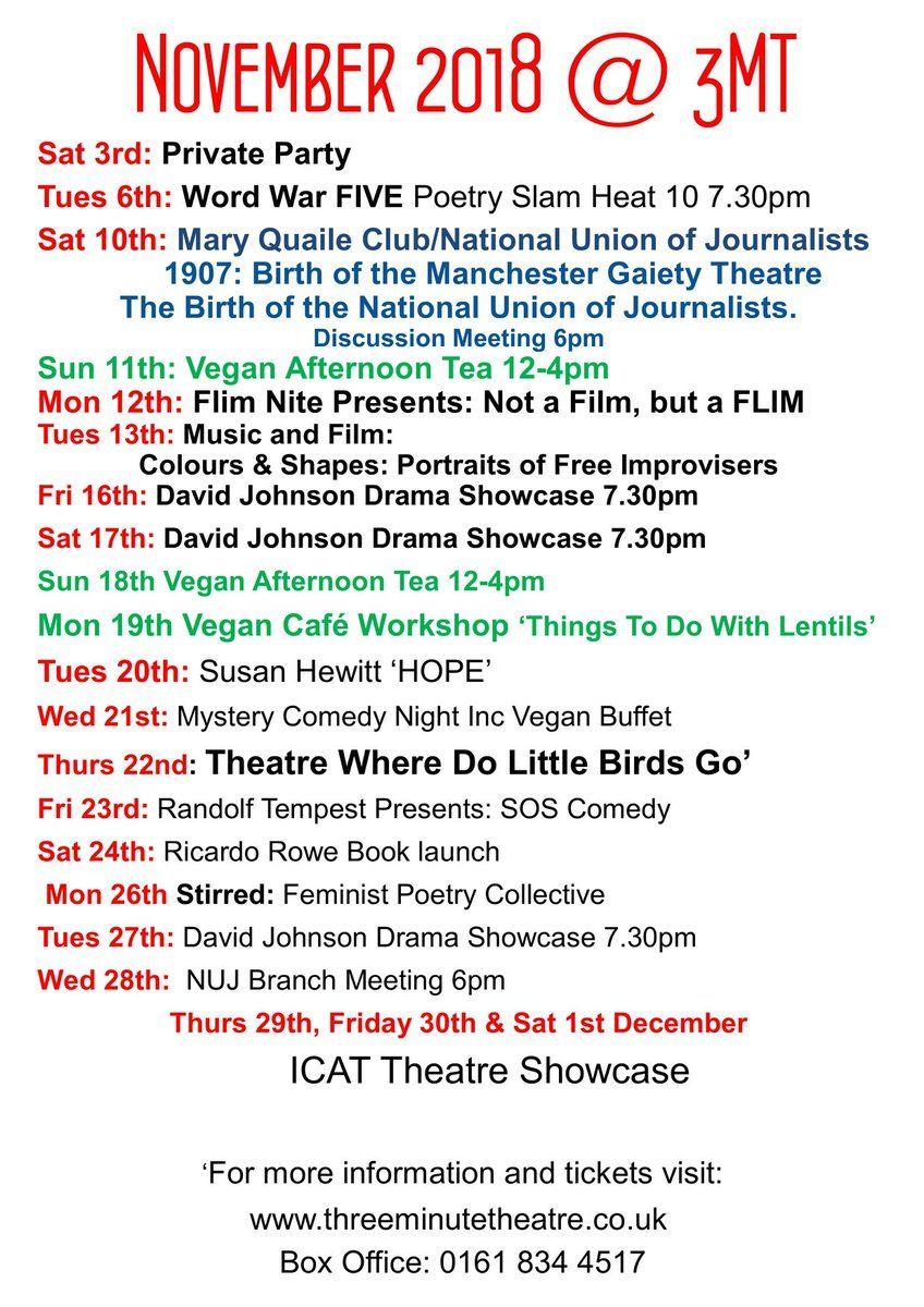 3MT Venue on | 3MT Leaflets | Vegan cafe, Wellbeing centre, Theatre
