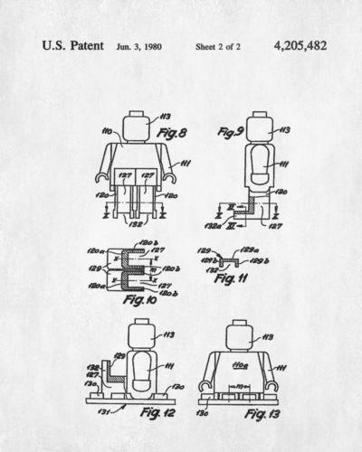 Lego-Mini-Figure-Patent-Print-Lego-Minifigure-Poster-Toy-Design - best of blueprint design for mac