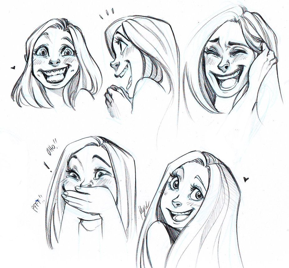 Laughing And Smiling Faces By Myed89 On Deviantart Smile Drawing Drawing Expressions Face Drawing
