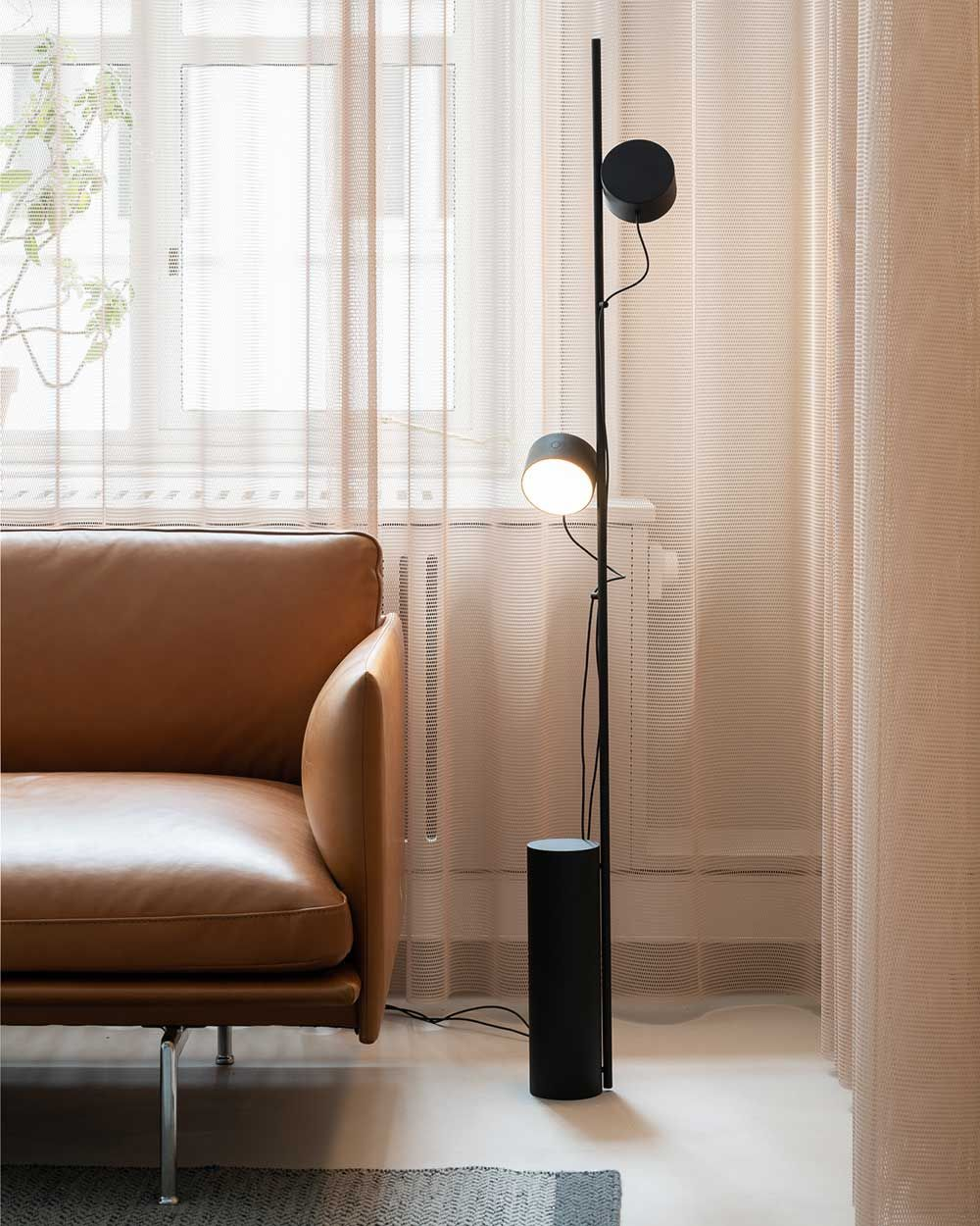 The Post Floor Lamp Is An Innovative Modular Lighting Design With An Archetypal Appearance Graphic Lines And In 2020 Scandinavian Furniture Design Floor Lamp Interior