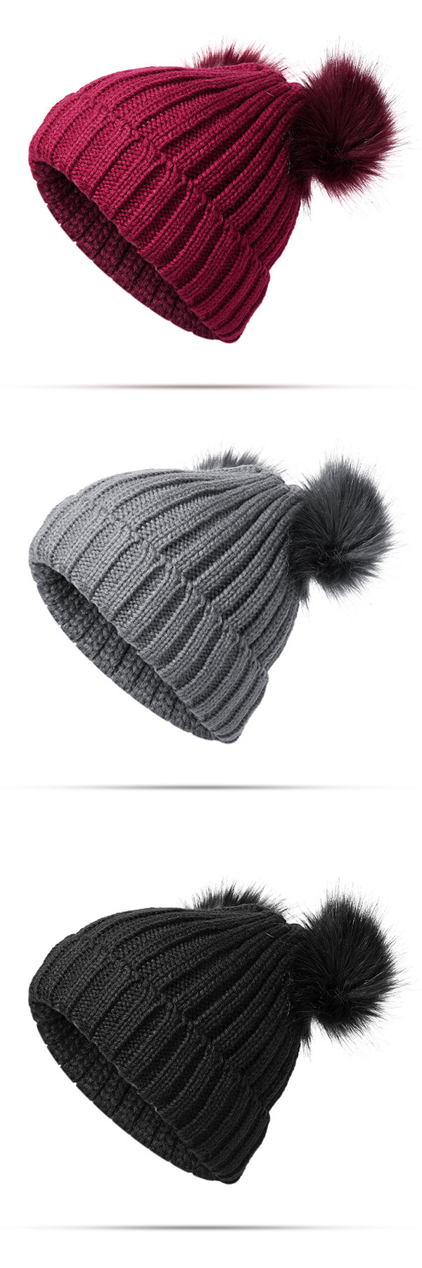 149448a5b00 Womens Knit Pom Pom Bucket Beanie Cap Soft Comfortable Fashionable Winter  Warm Outdoor Snow Hats  fashion  style  hat  accessories