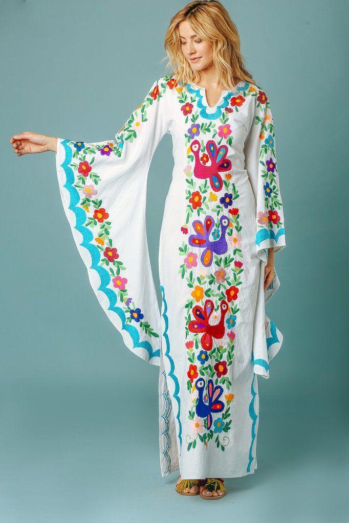 Vestido Largo Azul Turquesa Pachamama  cdb285464a8e