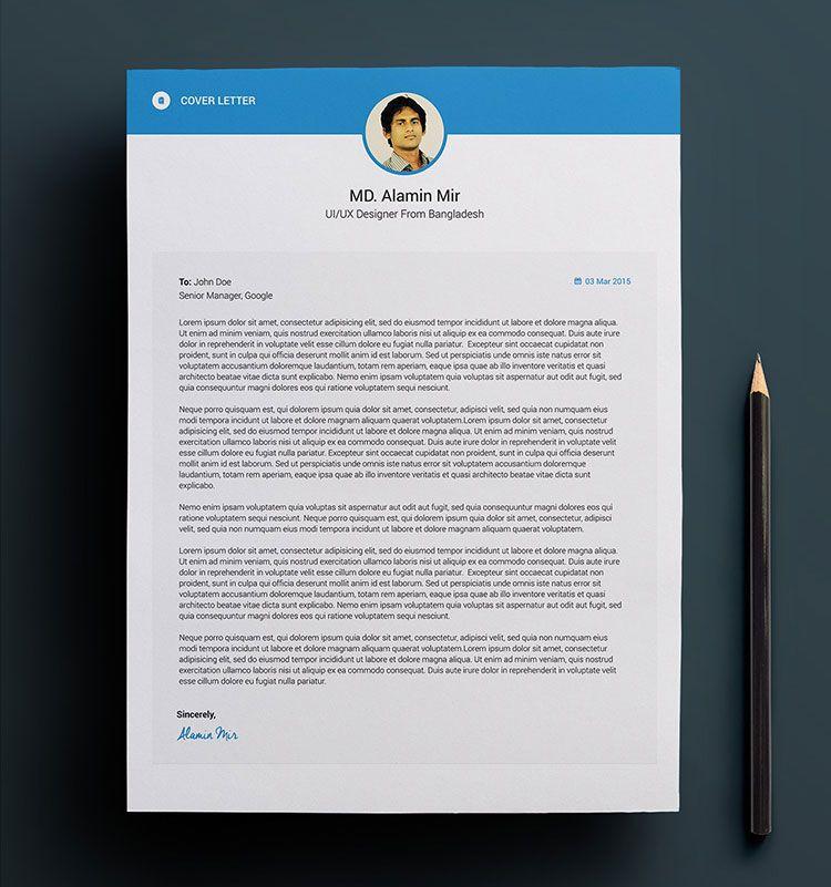 Free-Resume-Cover-Letter-Design-PSD Resume PSD Pinterest