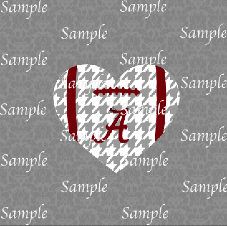 Download Alabama Football Heart SVG, DXF, EPS, PNG Digital File ...