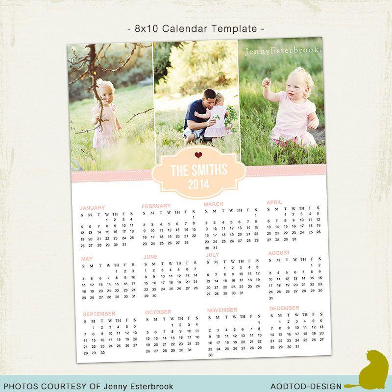 Instant Download C2 8x10 Calendar 2014 Psd Por Aodtoddesign Id