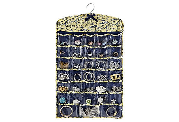 SPRING STORAGE Jewelry Pocket Organizer Jardins Jaune MACBETH