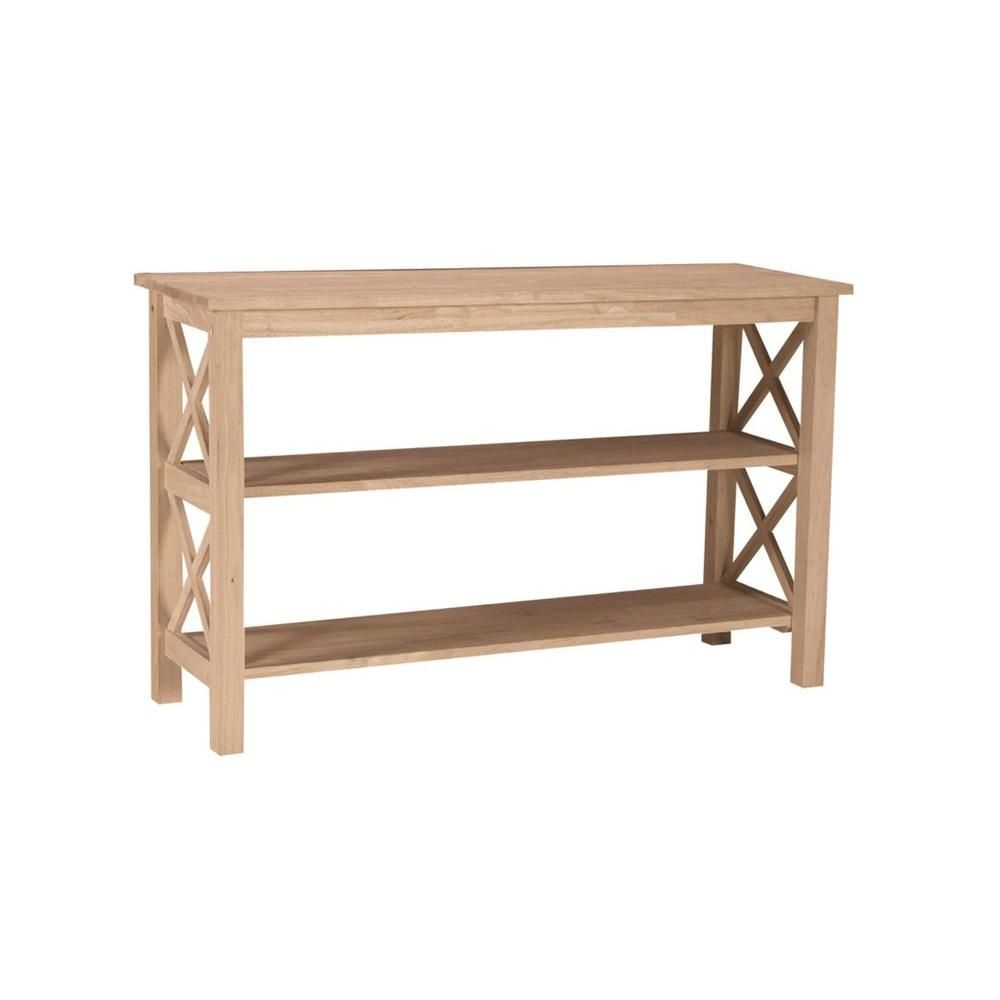 International concepts hampton unfinished console table ot 70s the home depot 48x16x30