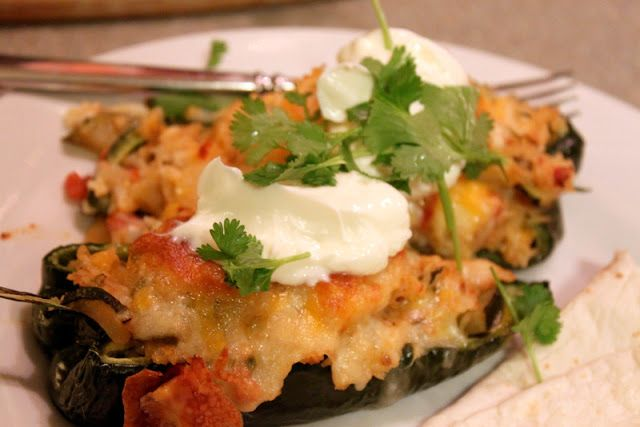 The Cottage Home: Stuffed Poblano Peppers
