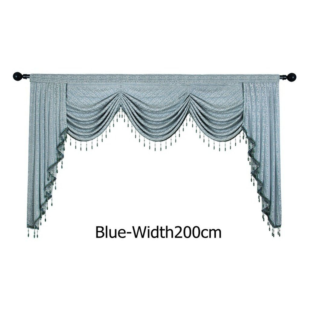 European Luxury Valances For Living Room Waterfall Valances For