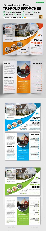 Trifold Brochure Template Vector EPS, AI Illustrator | inpiration ...