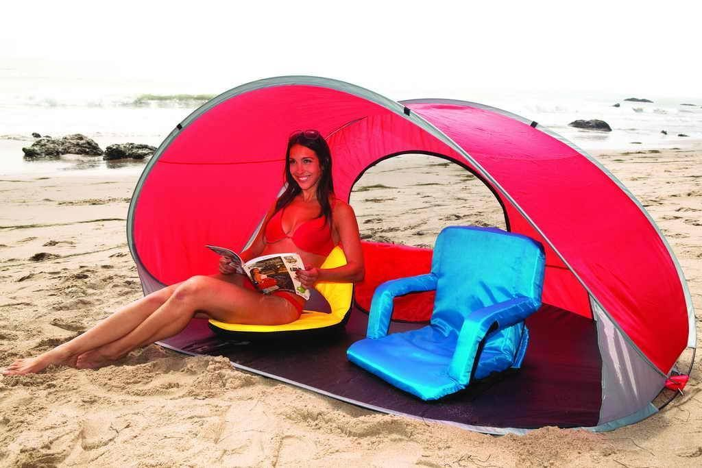 Enjoy The Benefit Of An Umbrella Minus Hle Setting Up A Tent Manta Portable Pop Beach And Sun Shelter Sets In Seconds Best