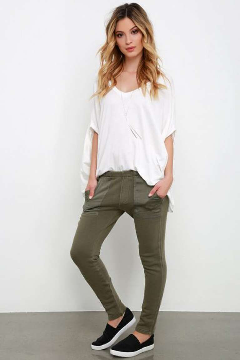 Imagen Relacionada Olive Pants Outfit Cute Lazy Day Outfits Casual Winter Outfits