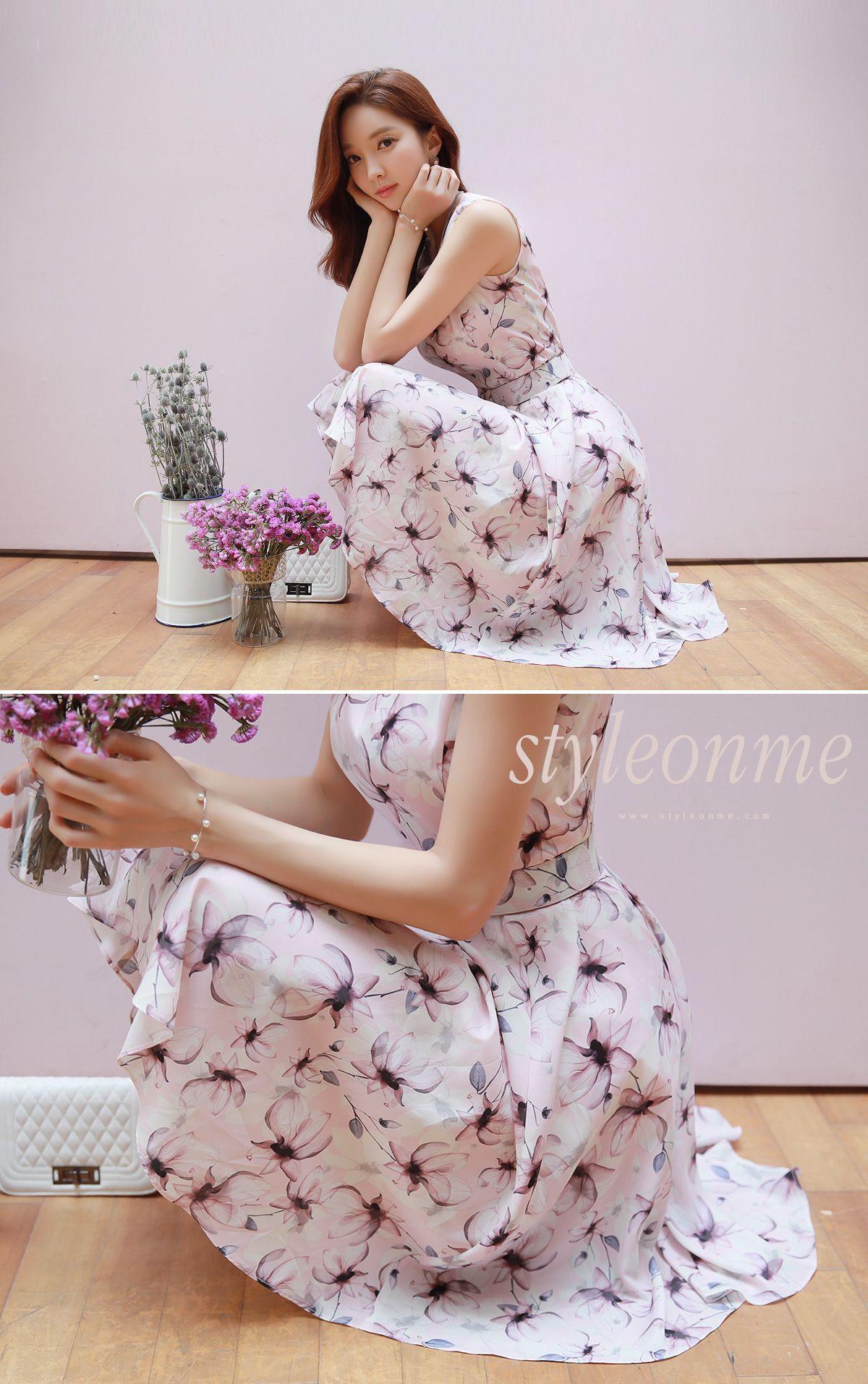 Pink n purple dress  Korean Womenus Fashion Shopping Mall Styleonme N  The Styleonme