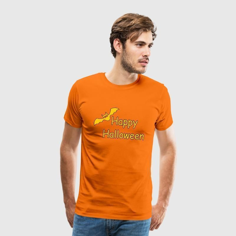 T-Shirt Design Fledermaus Happy Halloween Spruch Männer Premium T-Shirt - Grau ... - #design #fledermaus #halloween #happy #manner #shirt #Spruch - #Blanca'sWohnkulturGrau #happyhalloweenschriftzug
