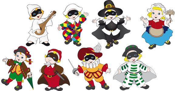 a poco prezzo tecniche moderne ufficiale Maschere di Carnevale Italiane in Versione Bambini da ...
