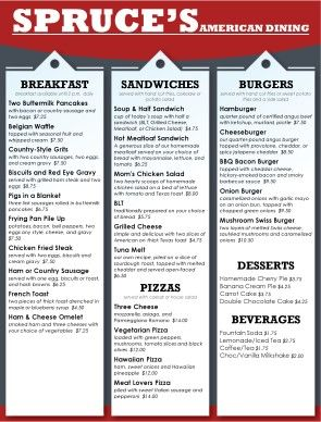 restaurants menu templates