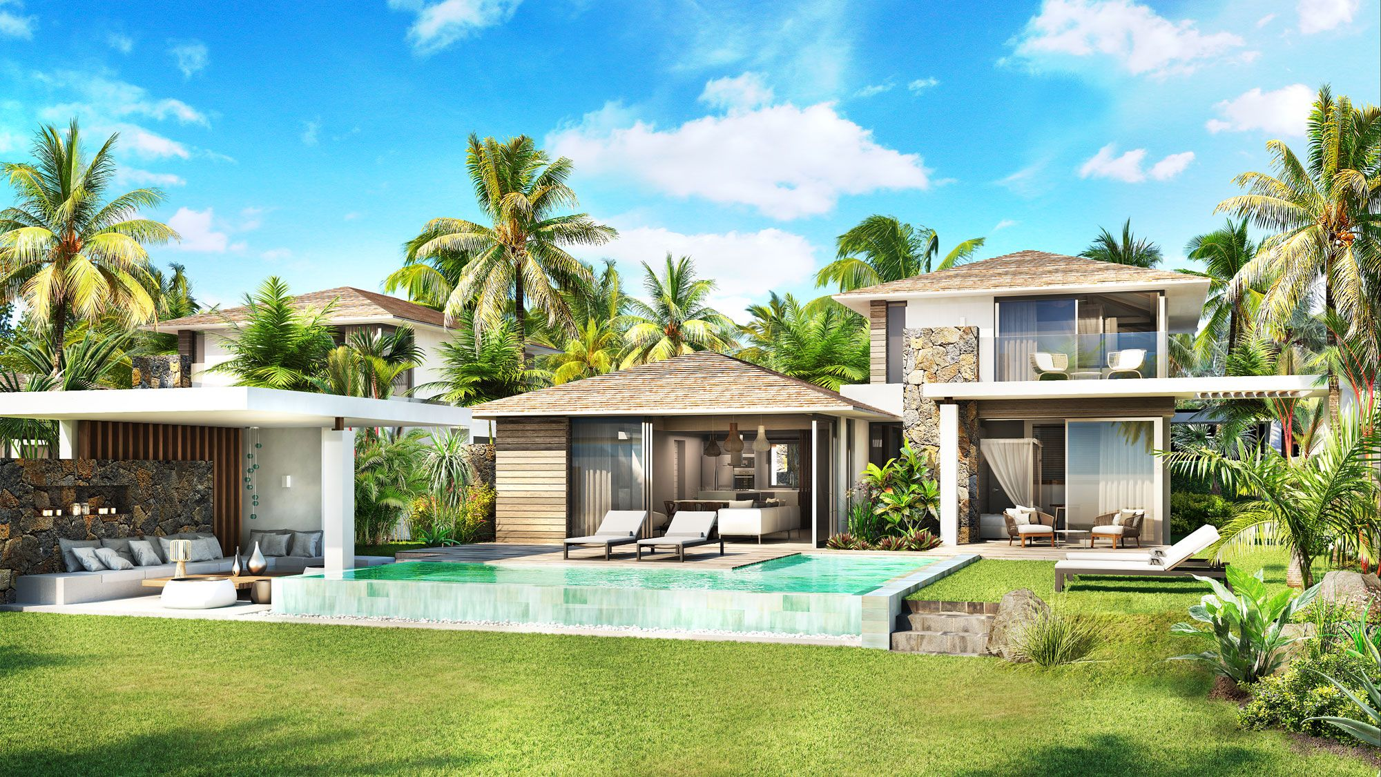 Riviera Villas In Mauritius Make This Lifestyle Yours Lexpress Property Villas In Mauritius House Villa