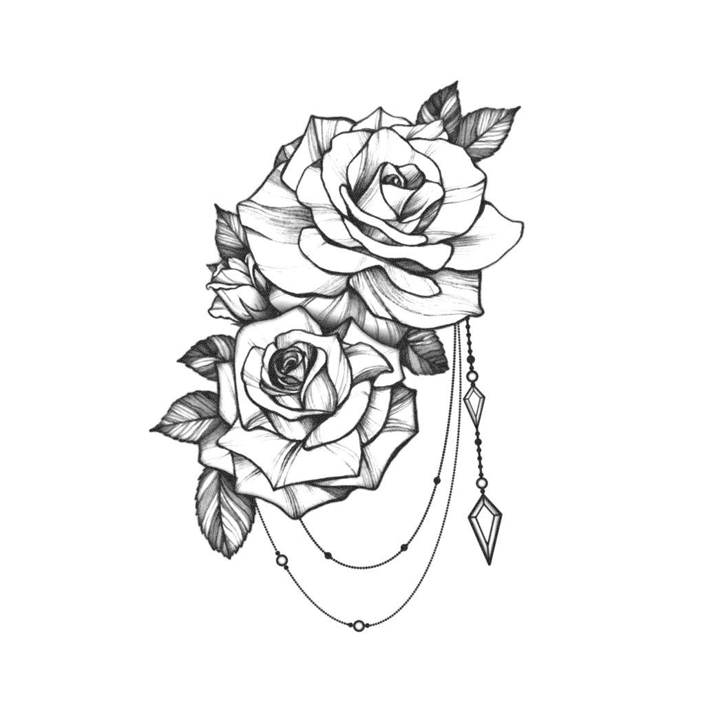 Photo of Rose Jewelry Tattoo