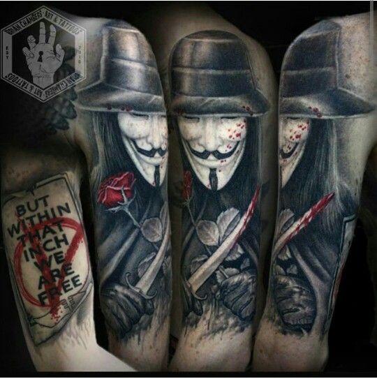 V For Vendetta Tattoo V For Vendetta Tattoo Vendetta Tattoo Tattoos