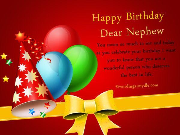 Nephew Birthday Messages Happy Birthday Wishes For Nephew Happy Birthday Wishes To Nephew