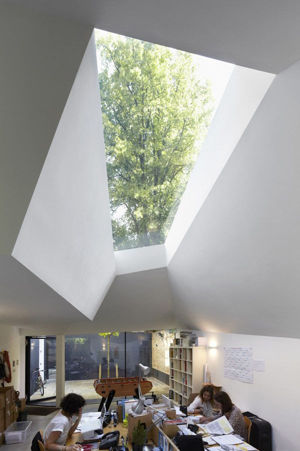 Captivating Lens House Interior   View Of Skylight.