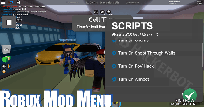 Roblox Hack Aimbots Mod Menus Wallhacks And Cheats For Ios