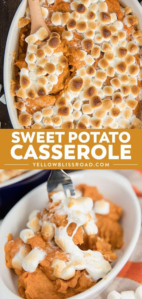 The Best Sweet Potato Casserole Recipe | Thanksgiving Side Dish #sweetpotatocasserolewithmarshmallows