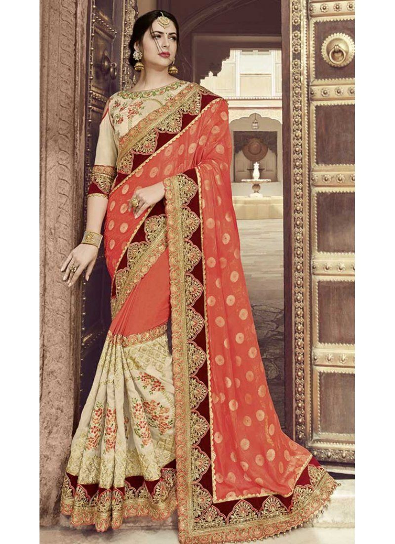 7b96e3276f Embroidery sarees online india for wedding | 367043599 Up to 30% off  discount #fashion #shopping #wedding #Diwali2018 #sale #heenastyle