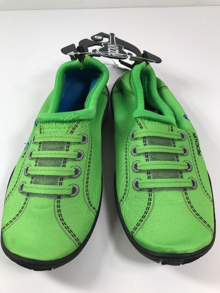 50e8f473e145 Rockin Footwear Neon Green SNEAKS Water Aqua Rubber Shoes Women s Size 6   RockinFootwear