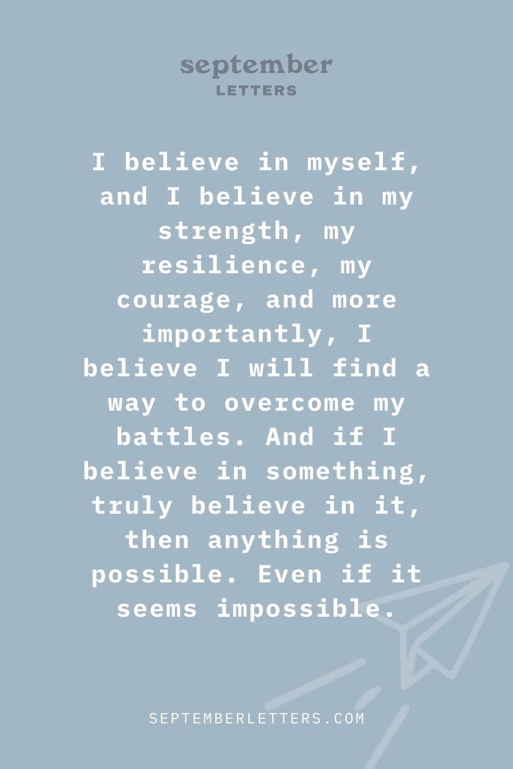 Anything Is Possible - Building Self-Confidence through Anxiety