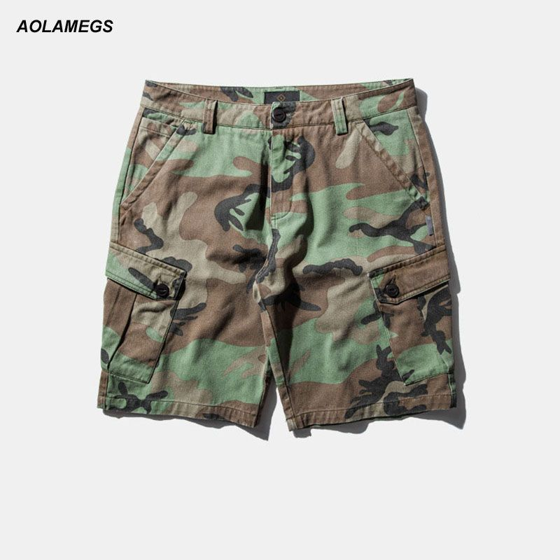 Aolamegs Men Shorts Military Style Cargo Camo Shorts Casual Fashion Tactical Army Camouflage Shorts Hot Sale Plus Size M-XXXL