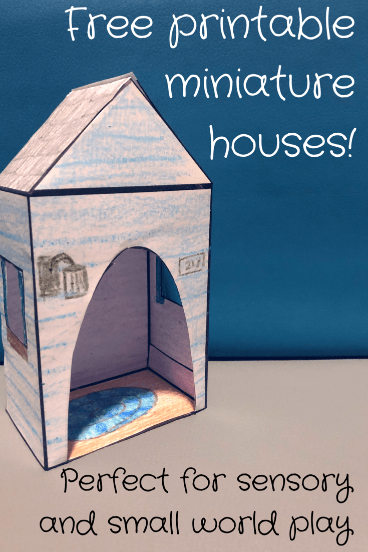 d2aeb726241 These FREE printable miniature houses are an awesome addition to any  sensory play or small world setup! There are blank versions for kids to  color ...