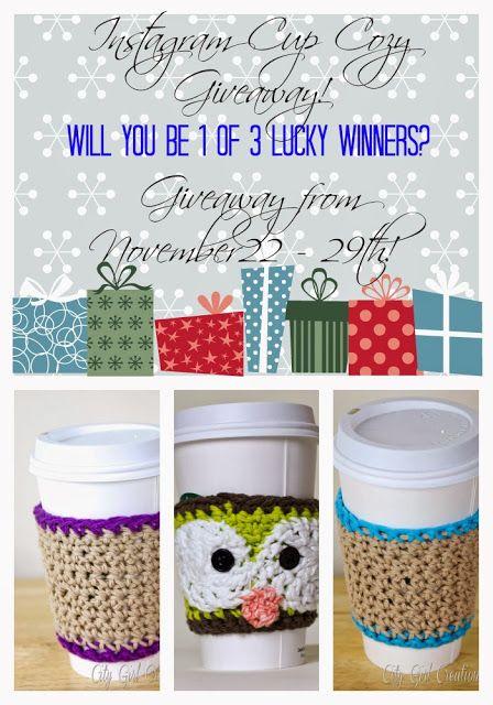 Big Apple Mami: Instagram Cup Cozy Giveaway - Begins Friday! Follow @Karen Torrejon on instagram or check out Big Apple Mami for more details.