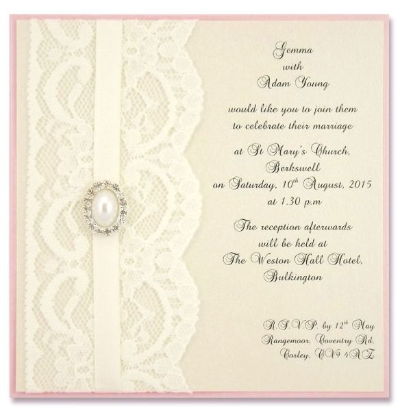 Lace Wedding Invitations Wedding Invitations Pinterest Lace - best of handmade formal invitation card