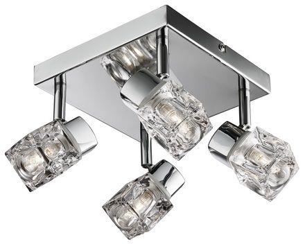 Modern Chrome Ice Cube 4 Light IP44 Bathroom Spotlight  sc 1 st  Pinterest & Modern Chrome Ice Cube 4 Light IP44 Bathroom Spotlight | Ceiling ...