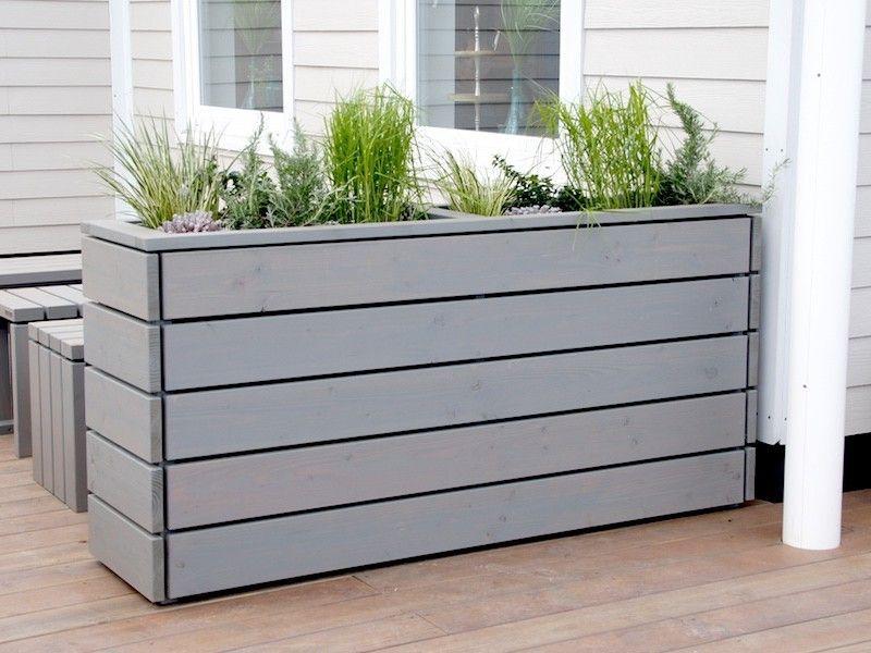 pflanzkasten pflanzk bel lang aus holz transparent ge lt grau garten pinterest. Black Bedroom Furniture Sets. Home Design Ideas