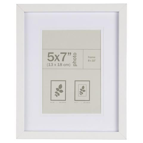 nice photo frame white 5x7 inch kmart