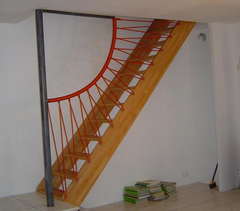 rampe en corde rampe escalier pinterest garde corps rampe escalier et rampes. Black Bedroom Furniture Sets. Home Design Ideas