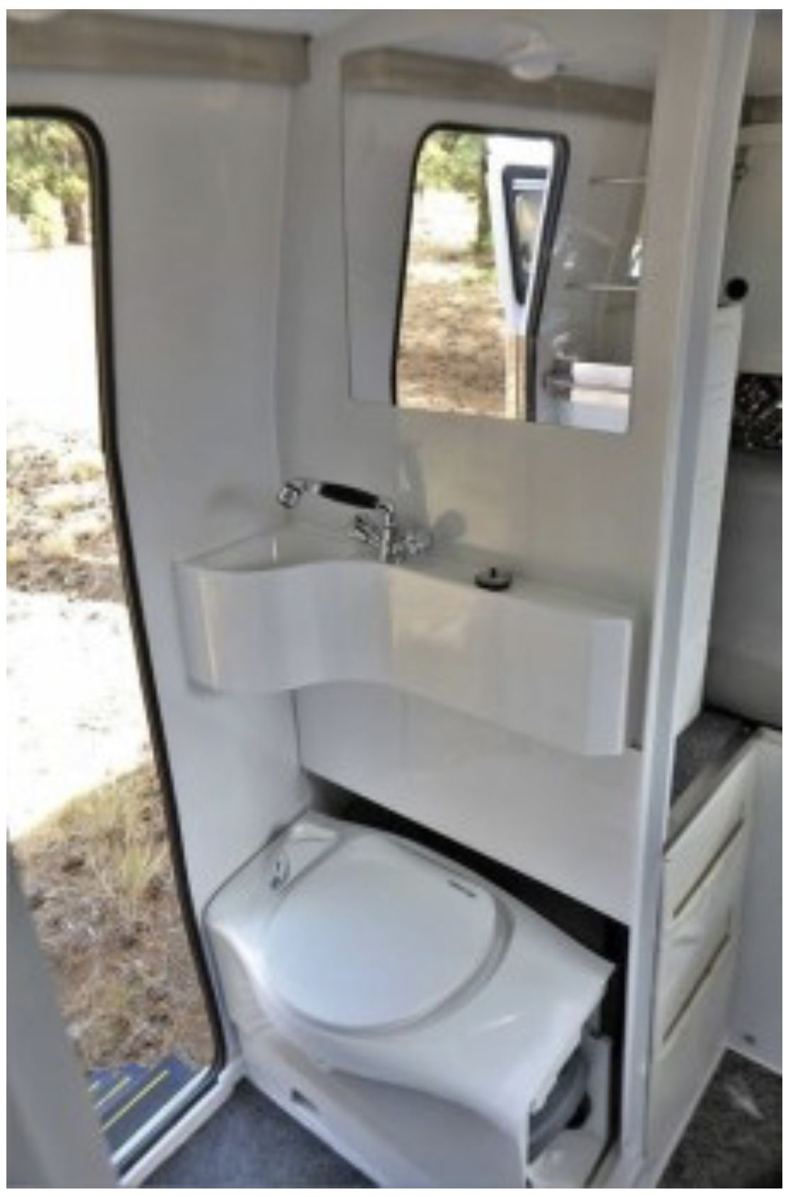 Toilet design Camper bathroom, Camper, Small rv